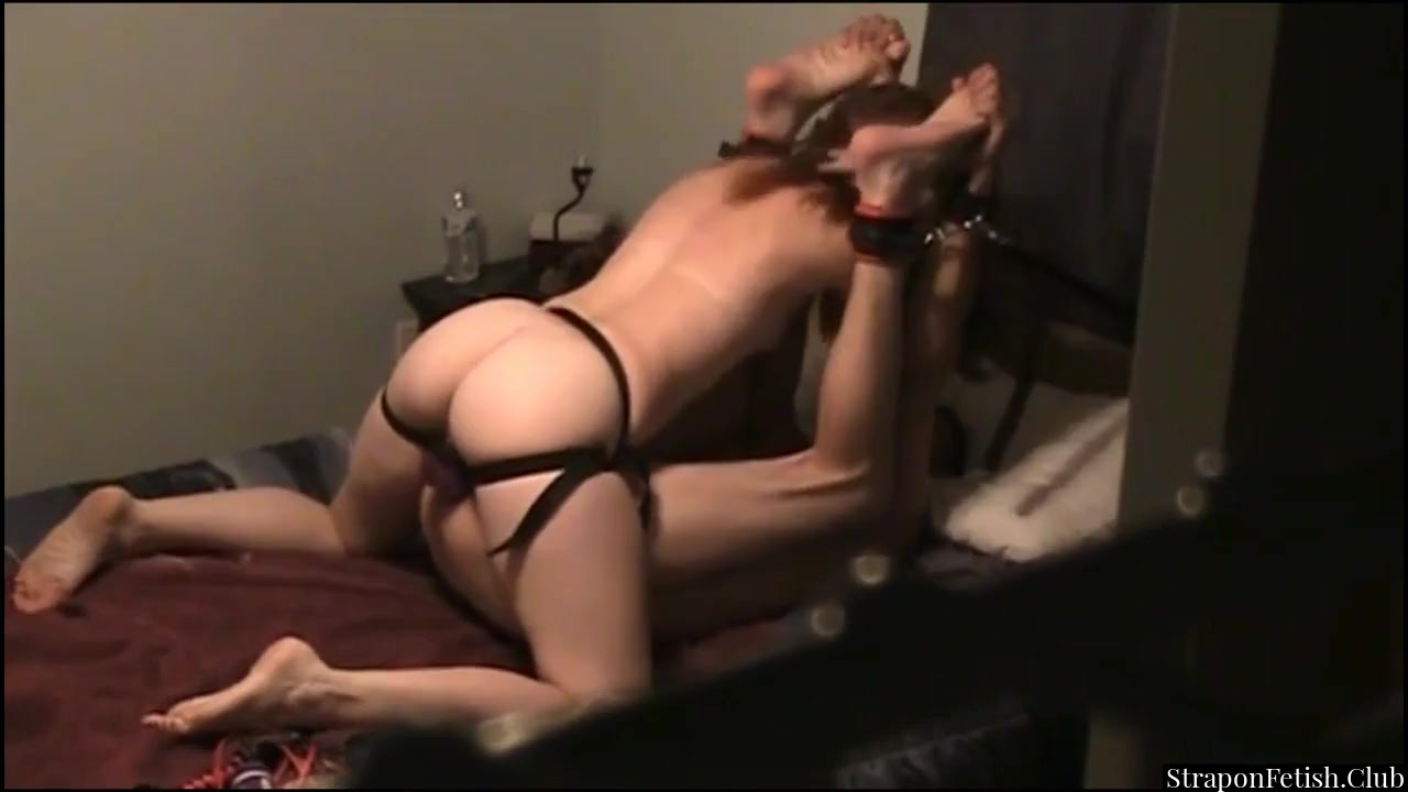 Slave Punished By Whipping And Strapon Pegging
