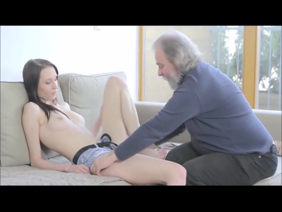 ... Senior citizen fucks young slender girl from behind after eating her  pussy ...